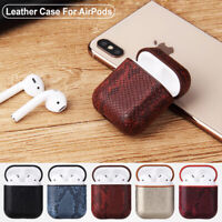 Leather Cover Earphones Skin For Apple AirPods Charging Case AirPod Protector