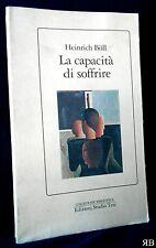 Heinrich Boll - La capacità di soffrire - Studio Tesi 1990 - 9788876922046
