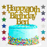 Personalised Happy 40th Birthday Glitter Cake Topper Any Name Any Age 18 21 30