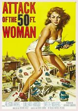 """Reproduction """"Attack of the 50 Foot Woman"""", Movie Poster, Wall Art, Size: A2"""