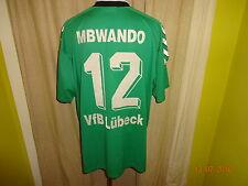 """VfB Lübeck hummel Matchworn Trikot 2001/02 """"Sportstadt""""+ Nr.12 MBWANDO Gr.XXL"""
