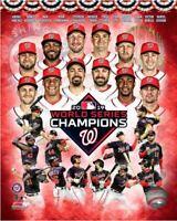 Washington Nationals 2019 World Series Champions Team Composite 8x10 Photo