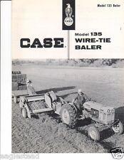 Farm Equipment Brochure - Case - 135 - Wire-Tie Baler - c1958 (F2615)