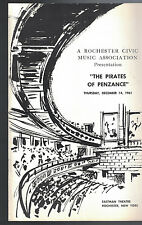 The Pirates of Penzance Eastman Theatre December 14 1961 Rochester NY