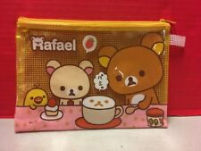 Rilakkuma Pencil Zipper Bag Case San-X Cute Bear Rafael Japan