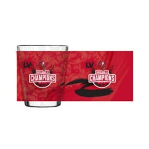 2021 Super Bowl LV 55 Champions Tampa Bay Buccaneers Sublimated Shot Glass 2oz