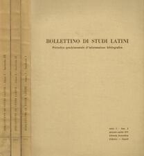 BOLLETTINO DI STUDI LATINI anno I. PERIODICO QUADRIMESTRALE D'INFORMAZIONE BIBLI
