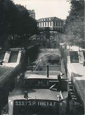 PARIS c. 1948 - Péniche Écluse Canal Saint-Martin - DIV 9605