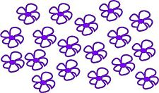 SET OF 18 DAISY FLOWER STICKERS car bike decal motorbike helmet vinyl
