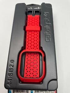 Catalyst Impact Case and Band Apple Watch Series 6 5 4 & SE 44mm - Red