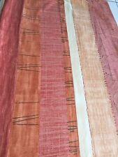 Curtain Sample Vintage Fabric Blind Cushion Craft 60c92cm Terracotta Red Cream