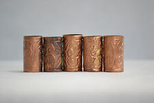COPPER PATTERN ENGRAVED WALKING STICK CANE COLLARS QTY 1