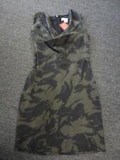 MICHAEL MICHAEL KORS Green Black Silk Camo Print Sheath Dress Size 4 EE7533