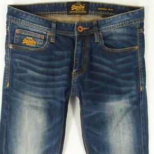 Mens SuperDry CORPORAL SLIM Stretch Slim Straight Blue Jeans W32 L32