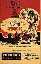 RARE 1961 AUSTIN SENATORS Texas League Baseball Scorecard PHIL NIEKRO HOF