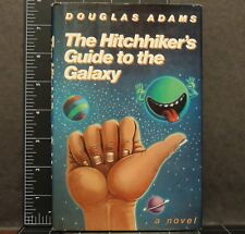 The Hitchhiker's Guide to the Galaxy Douglas Adams HC First 1st ed. print 1980