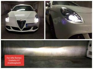 Kit Led H7 6000k 12000LM Anabbaglianti Alfa Romeo Giulietta 12V No Error White