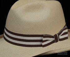 Hat band 47 -Dark Brown - Men Ladies Sun Panama Hat fedora Replacement strap