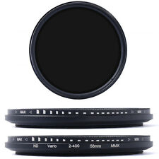 3IN1 58mm Fader Variabile ND Filtro Filtri Neutrale Densità ND4 8 to ND400 LF304