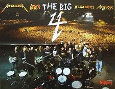 THE BIG 4  ___ MEGADETH _ Metallica _ Slayer _ Anthrax _   1 Poster / Plakat