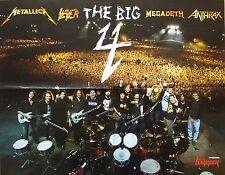 THE BIG 4  ___ MEGADETH _ Metallica _ Slayer _ Anthrax _   1 Poster / Plakat