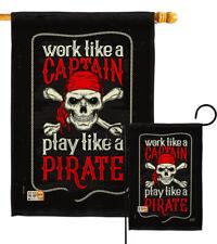 Play Like A Pirate Captain Sea Skull Bone Boat Work Garden House Yard Flag
