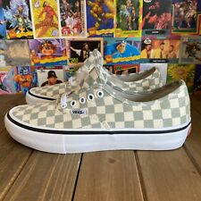 Vans Authentic Pro (Checkerboard) Desert Sag Green Size 7 New