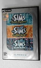 PC THE SIMS EXPANSION PAK 2 - CUCCIOLI + SUPERSTAR + HOUSE PARTY  PC DVD BOX ITA