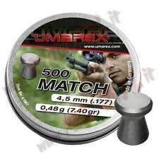 PIOMBINI UMAREX MATCH PRO CAL 4.5 mm TESTA PIATTA PER PISTOLA CARABINA FUCILE