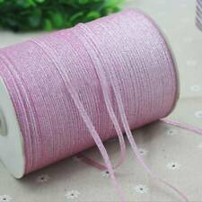 4mm Glitter Organza Ribbon for Wedding Party Gift Christmas 20Yards Diy Ribbon ~
