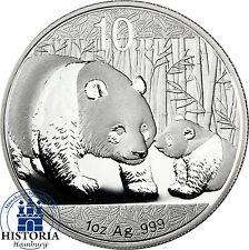China Panda 2011 Silber Unze 10 Yuan Silbermünze in Münzkapsel
