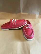 Chatham Ladies Red  Leather Deck Shoes Mules UK 6.5 Eur 40 Great Condition