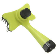 Fellbürste Hundebürste Katzenbürste Haarentferner selbstreinigend gelb