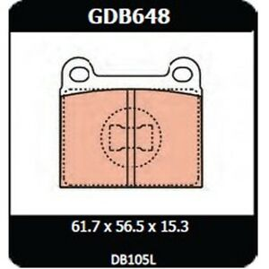 Audi 80 L LS GL 1974-1978 TRW Front Disc Brake Pads GDB648 DB105