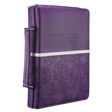 Floral Embossed Bible / Book Cover - Jeremiah 29:11 (Medium, Purple) [Imitati...