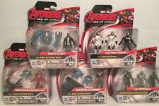 "Avengers Age Of Ultron 2.5"" Mini Action Figures Mark 1 & 43 Vision Nick Fury NIB"