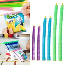 6pcs Reusable Grip Stick Seal Food Snack Storage Bag Chips Kitchen Tool Plastic