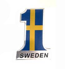 SWEDEN SE Flag Metal Trunk Rear Emblem Badge Sticker Decal For Volvo SAAB