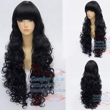 Inuyasha Naraku Long Puffy Curly Cosplay Wig Pretty Black Wig Hair