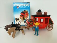 Playmobil 3245 v2 - Western Red Stage Coach Wells Fargo (OVP outlinebox, Klicky)