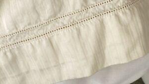 """Home Treasures Queen Bedskirt cream ivory 13.5"""" drop stripe"""