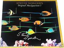 STEVIE WONDER HAND SIGNED AUTOGRAPHED ORIGINAL MUSIQUARIUM I ALBUM! EXACT PROOF!