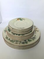 Set of 4 Woodhill by Citation Dinner, Salad, and Saucer Plates Fine China