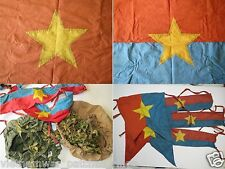 2 flags , HELMET COVERS , ARMBAND  , VIETCONG ,  Battle Flag  , Vietnam War