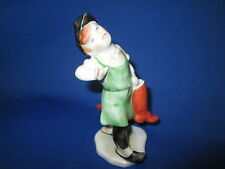 Herend Hungary Fine Porcelain Figurine Shoe Maker Boy Holding Boots 5-1/4""