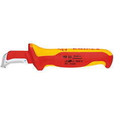 Knipex 155mm Electricians Cable Knife Dismantling Tool 1000V VDE Insulated 98 55