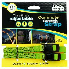 "ROK Straps Motorcycle Bike ATV HD 720mm 28"" Adjustable Stretch Green New"