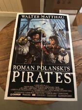PIRATES MOVIE POSTER Original 27x41 Folded One Sheet 1986 ROMAN POLANSKI FILM