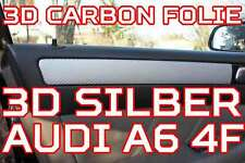AUDI A6 4F ORIGINAL 3D CARBON FOLIE SILBER - ZIERLEISTEN FOLIEN SET