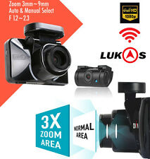 "LUKAS z970 Dash Camera Optical Zoom x3, 2Ch FHD GPS Wi-Fi LCD 3.5"" Dual 128+ 8GB"
